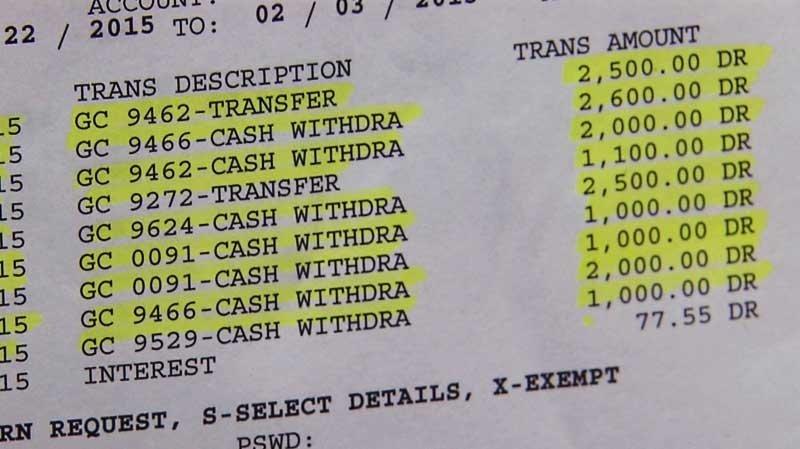 Kradzież pieniędzy z rachunku bankowego